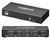 HDMI Splitter 4 port 1080p, high speed 3D Guld platteret